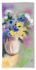 Patio Flowers Beach Towel