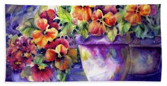 Patio Pansies Beach Sheet