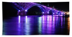 Peace Bridge Supporting Breast Cancer Awareness Beach Towel by Michael Frank Jr