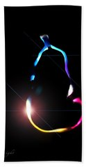 Beach Towel featuring the digital art Pear Abstract by Frank Bright