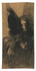 Pegasus And Bellerophon Beach Towel by Odilon Redon