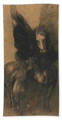 Pegasus And Bellerophon Beach Towel by Odilon Redon