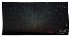 Perseid Meteor Shower Beach Towel