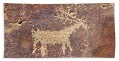 Petroglyph - Fremont Indian Beach Towel
