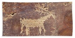 Petroglyph - Fremont Indian Beach Towel