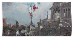 Piazza Venezia Rome Beach Towel