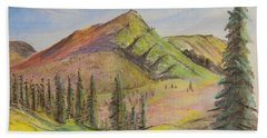 Pines On The Hills Beach Towel