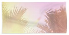 Beach Sheet featuring the photograph Pink Palms 2 by Cindy Garber Iverson