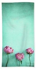 Pink Peonies  Beach Towel