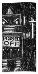 Pissed Off Bot Beach Towel