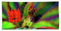 Plants And Flowers In Hawaii Beach Towel