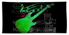 Beach Sheet featuring the digital art Play 3 by Guitar Wacky