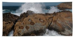 Point Lobos Concretions Beach Sheet by Glenn Franco Simmons