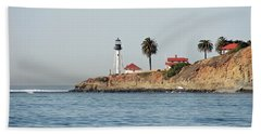 Point Loma Lower Lighthouse Beach Sheet by Carol Bradley