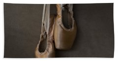 Beach Towel featuring the photograph Sacred Pointe Shoes by Laura Fasulo