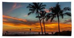 Poipu Beach Sunset - Kauai Hi Beach Towel