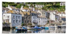 Polperro, Cornwall Beach Sheet by Hazy Apple