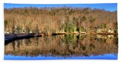 Beach Towel featuring the photograph Pond Reflections by David Patterson