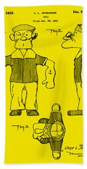 Popeye Doll Patent 1932 In Orange Beach Towel