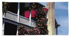 Porch In Bloom Beach Sheet by Glenn Gemmell