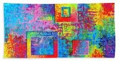 Portals Of Color Beach Sheet by Jeremy Aiyadurai