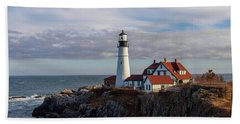 Beach Towel featuring the photograph Portland Head Light by Trace Kittrell