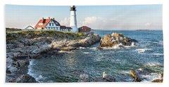 Portland Head Lighthouse Beach Towel
