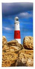 Portland Lighthouse, Uk Beach Towel by Chris Smith