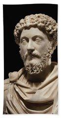 Portrait Bust Of Emperor Marcus Aurelius Beach Towel