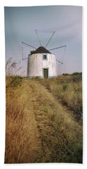 Beach Towel featuring the photograph Portuguese Windmill by Carlos Caetano