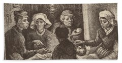 Potato Eaters, 1885 Beach Towel