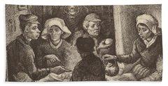Potato Eaters, 1885 Beach Sheet by Vincent Van Gogh