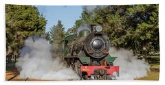 Steam Loco W920 Beach Towel