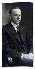 President Calvin Coolidge Beach Towel
