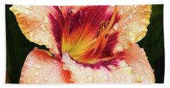 Beach Towel featuring the photograph Pretty Flower by Elvira Ladocki