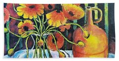 Pretty Poppies Beach Towel