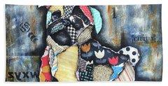 Pug Beach Sheet by Patricia Lintner