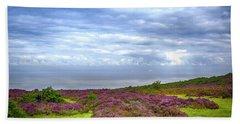 Purple Heather On Exmoor, Uk Beach Towel