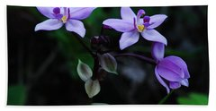 Purple Orchids 2 Beach Towel