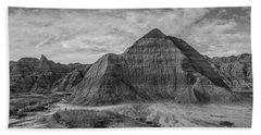 Pyramid In The Badlands Panorama Beach Towel