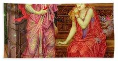 Queen Eleanor And Fair Rosamund Beach Towel