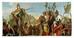 Queen Zenobia Addressing Her Soldiers Beach Sheet