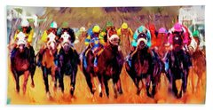 Race To The Finish Beach Towel
