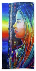 Rainbow Girl 241008 Beach Towel by Selena Boron