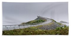 Beach Towel featuring the photograph Rainy Day On Atlantic Road by Dmytro Korol
