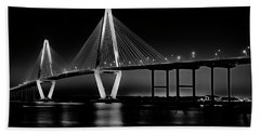 Ravenel Bridge Beach Towel by Bill Barber