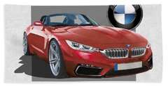 Red 2018 B M W  Z 5 With 3 D Badge  Beach Towel