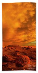 Red Rock Coulee Sunset 2 Beach Towel