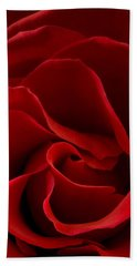 Red Rose Vi Beach Towel by George Robinson
