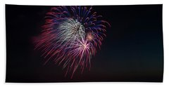 Red, White And Blue Beach Towel